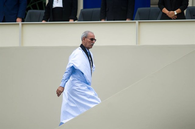 Archivo - 01 June 2019, El Salvador, San Salvador: President of the Sahrawi Republic Brahim Ghali attends the inauguration of newly appointed President of El Salvador Nayib Bukele during a swearing-in ceremony. Photo: Camilo Freedman/ZUMA Wire/dpa