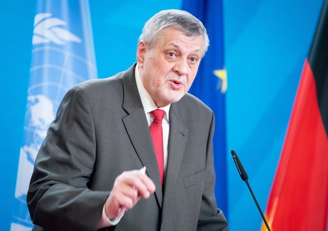 Archivo - 18 March 2021, Berlin: UN Special Envoy for Libya Jan Kubis speaks during a joint press conference with German Foreign Minister Heiko Maas (not pictured), after their meeting at the Federal Foreign Office. Photo: Kay Nietfeld/dpa-Pool/dpa