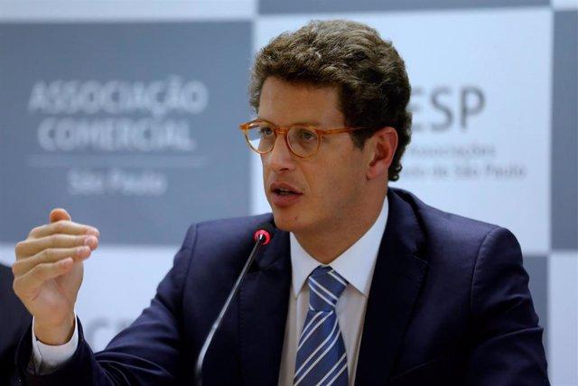 Archivo - El ministro de Medio Ambiente de Brasil, Ricardo Salles.