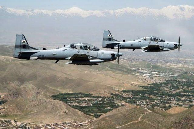 Archivo - Aviones de guerra de la Fuerza Aérea afgana