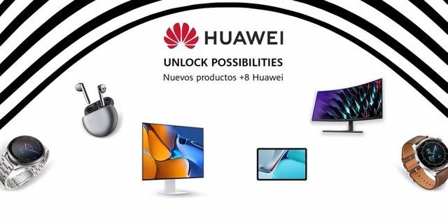 Catálogo de productos de Huawei con Harmony OS.