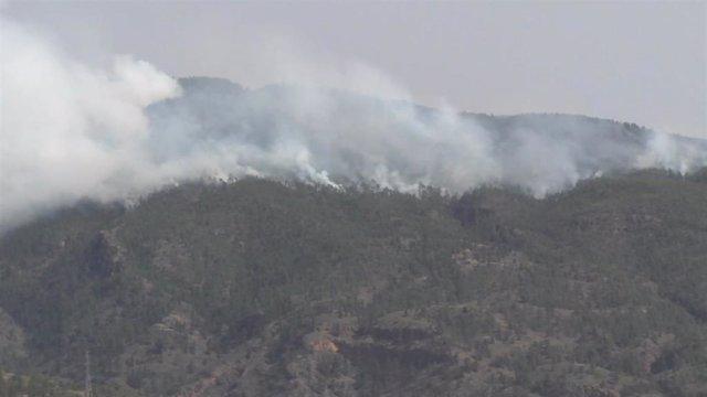 Parte de la superficie del incendio de Arico, a 21 de mayo de 2021, en Tenerife, Islas Canarias (España).