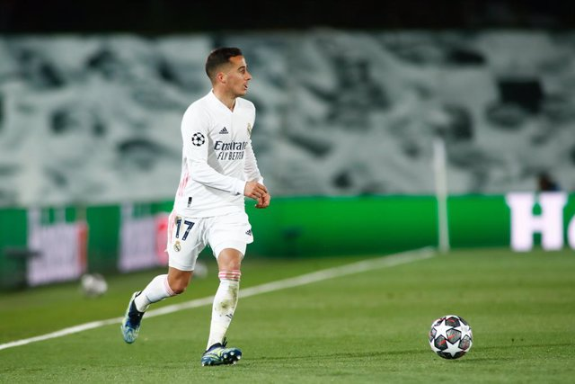 Archivo - Lucas Vazquez of Real Madrid in action during the UEFA Champions League, Quarter finals round 1, football match played between Real Madrid and Liverpool FC at Alfredo Di Stefano stadium on April 06, 2021 in Valdebebas, Madrid, Spain.