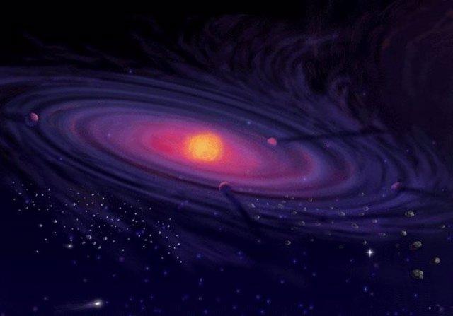 Ilustración de la nube de Oort