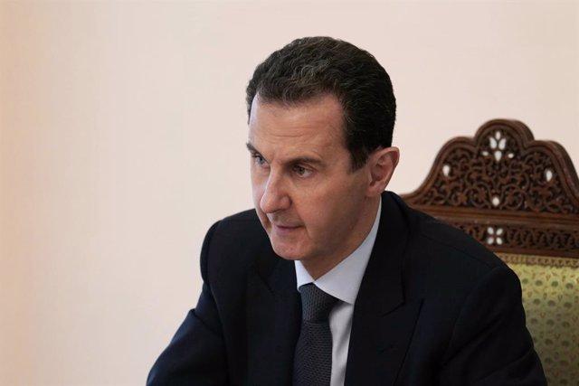 Archivo - El presidente de Siria, Bashar al Assad