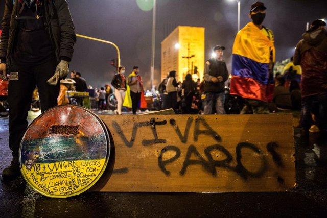 Manifestacions contra el govern del president Iván Duque a Colòmbia.