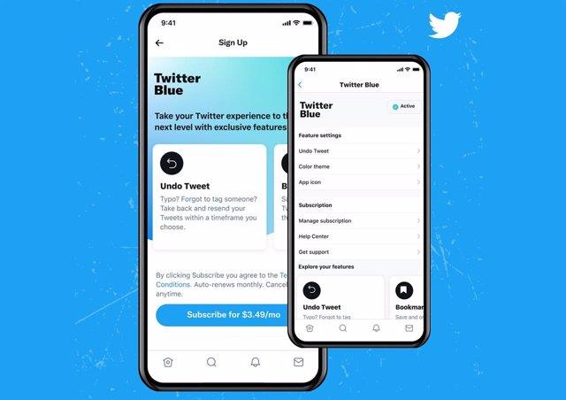 Servicio de pago Twitter Blue