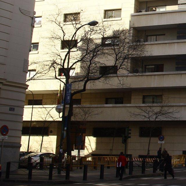 Archivo - Arxiu - Façana de l'Audiència Nacional.