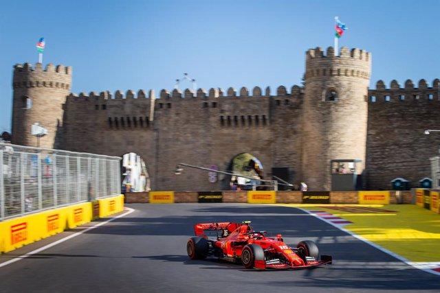 Archivo - 16 LECLERC Charles (mco), Scuderia Ferrari SF90, action during the 2019 Formula One World Championship, Grand Prix of Azerbaijan from April 25 to 28 in Baku - Photo Antonin Vincent / DPPI
