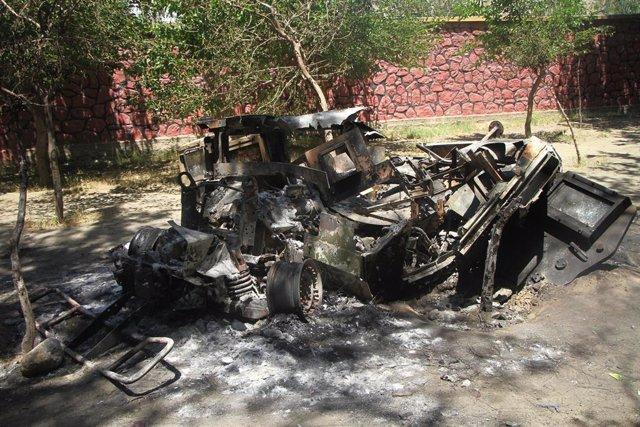 Archivo - Imagen de archivo de un atentado en Laghman, en Afganistán