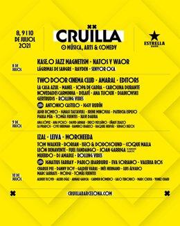 Cartell del Festival Cruïlla 2021