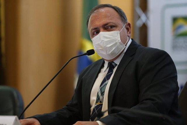 Archivo - El general y exministro de Salud de Brasil Eduardo Pazuello