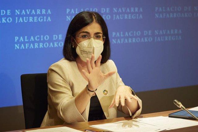 Darias comparece tras el pleno del Consejo Interterritorial celebrado en Pamplona