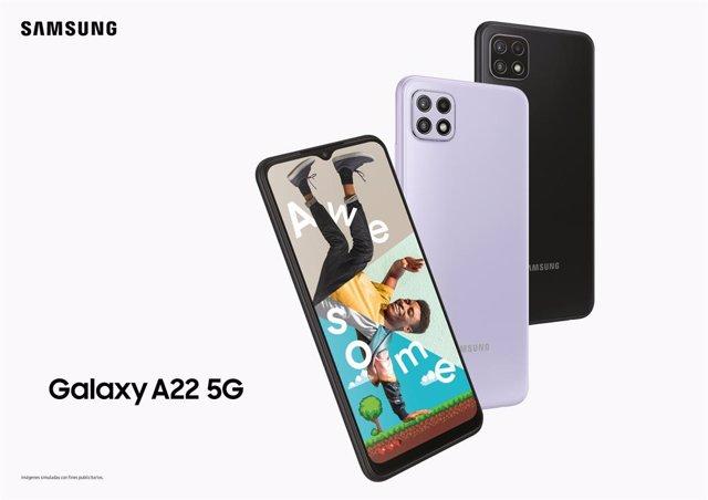 Galaxy A22 5G de Samsung.