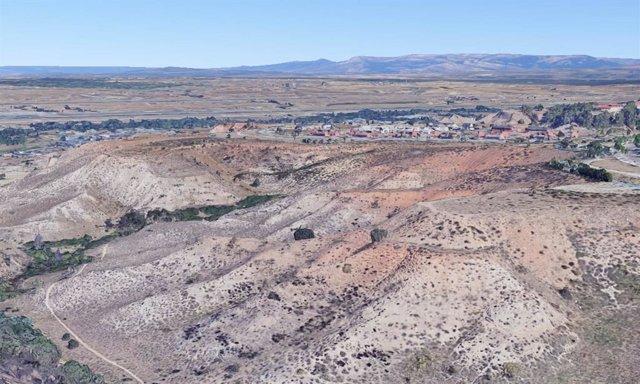 Zona desertizada de Paracuellos del Jarama, en la Comunidad de Madrid