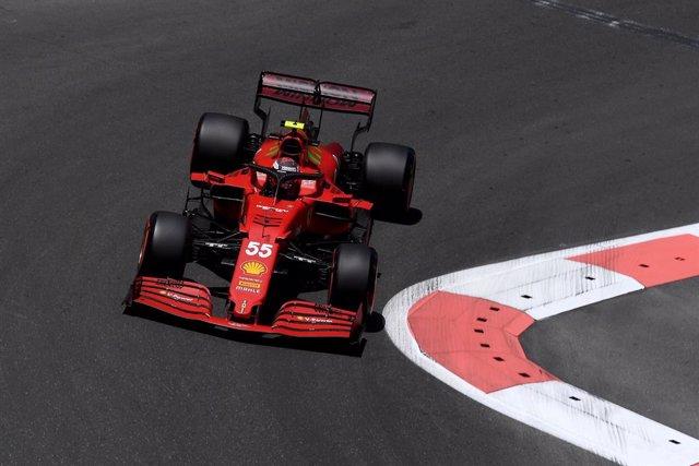 Carlos Sainz en el GP Azerbaiyán