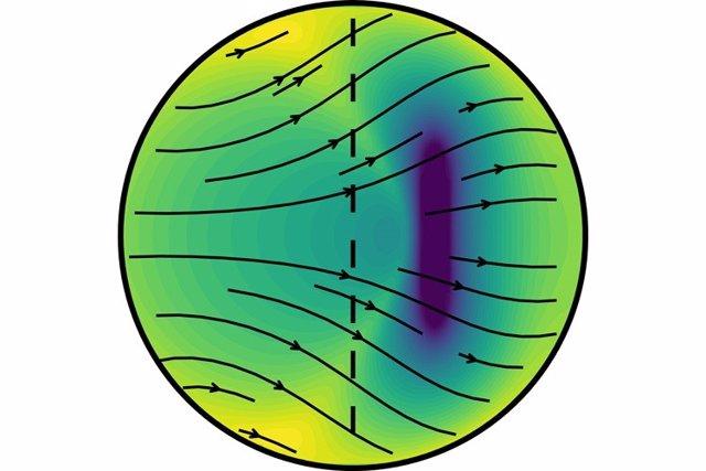 Un nuevo modelo de sismólogos de UC Berkeley propone que el núcleo interno de la Tierra crece más rápido en su lado este (izquierda) que en su oeste