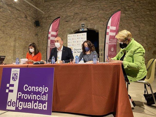 Rueda de prensa tras el Consejo de Igualdad de Diputación de Segovia.