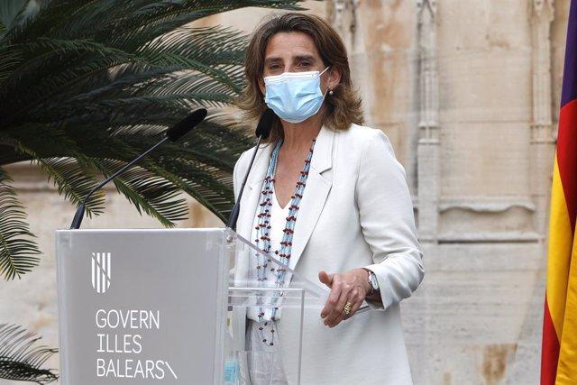 Arxiu - La vicepresidenta quarta del Govern central i ministra per a la Transició Ecològica i el Repte Demogràfic, Teresa Ribera.