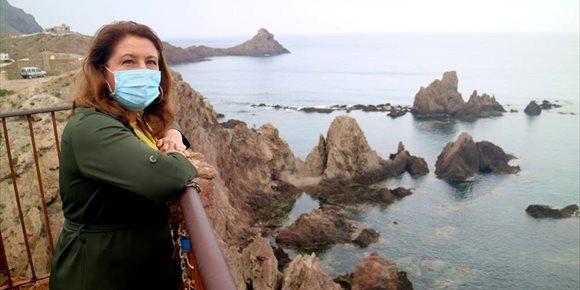 1. Crespo destaca la apuesta inversora del actual Gobierno andaluz en el Parque Natural Cabo de Gata-Níjar