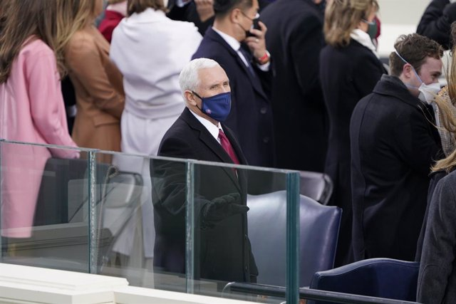 Archivo - January 20, 2021 - Washington, DC, United States: United States Vice President Mike Pence prior to President Joe Biden taking the Oath of Office as the 46th President of the US at the US Capitol in Washington, DC on Wednesday, January 20, 2021.