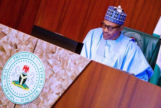 Archivo - El presidente de Nigeria, Muhamadu Buhari