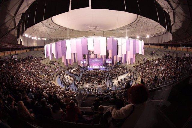 Archivo - Imagen de recurso de la Asamblea Ciudadana de Podemos en Vistalegre.