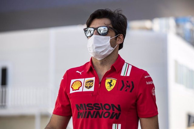 SAINZ Carlos (spa), Scuderia Ferrari SF21, portrait during the Formula 1 Azerbaijan Grand Prix 2021 from June 04 to 06, 2021 on the Baku City Circuit, in Baku, Azerbaijan - Photo Xavi Bonilla / DPPI