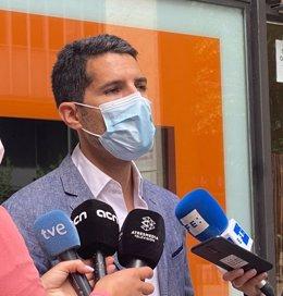 El diputat de Cs Nacho Martín Blanco en declaracions davant els mitjans