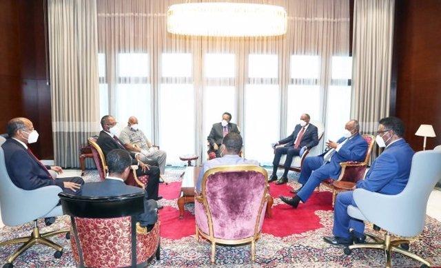 Archivo - Reunión entre los líderes de Somalia y Somalilandia