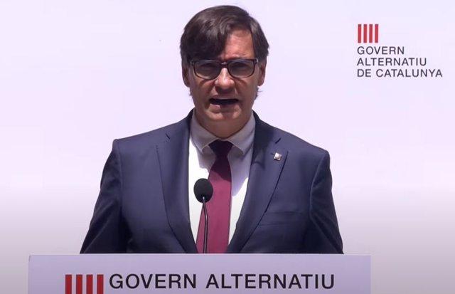 Archivo - Arxivo - El líder del PSC en el Parlament i líder de l'oposició a Catalunya, Salvador Illa