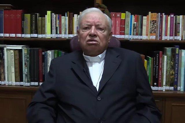 Vídeo del cardenal mexicà Juan Sandoval Íñiguez demanant el vot contra el Govern de Mèxic