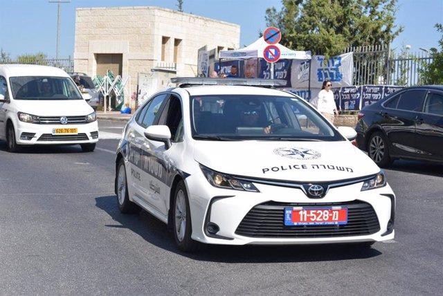 Archivo - Coche de la Policía de Israel