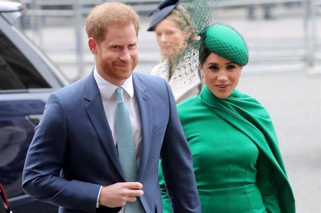 Archivo - El príncipe Enrique y su esposa Meghan Markle, duques de Sussex