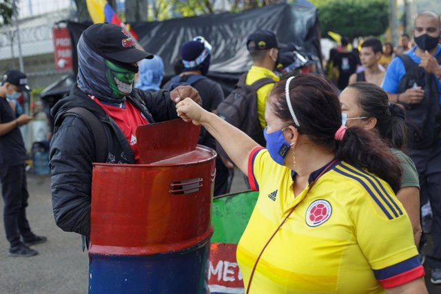 Manifestaciones contra el Gobierno durante el paro nacional en Colombia