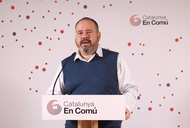 Archivo - Arxiu - El portaveu dels comuns i diputat al Congrés, Joan Mena.