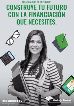 Unicaja Banco vuelve a facilitar a los estudiantes el pago de la matrícula de estudios y anticipa las becas con préstamos a un interés del 0%