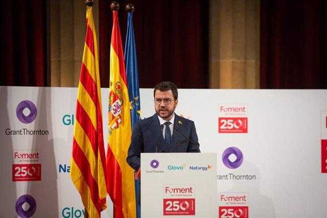 El president de la Generalitat, Pere Aragonès.