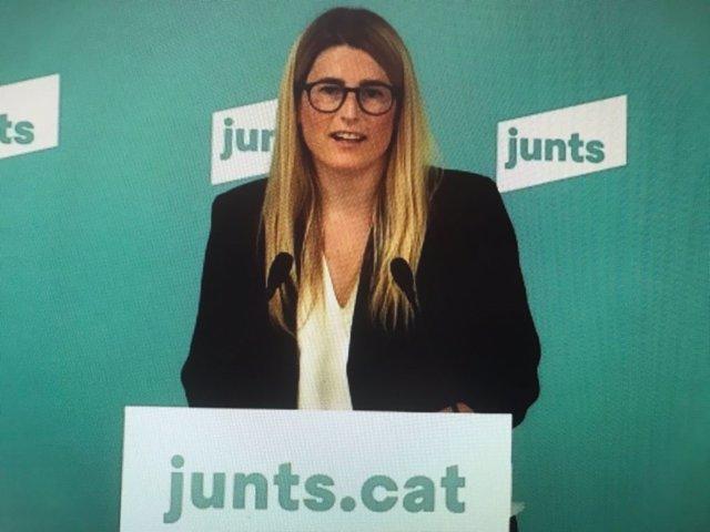 La vicepresidenta de Junts, Elsa Artadi.