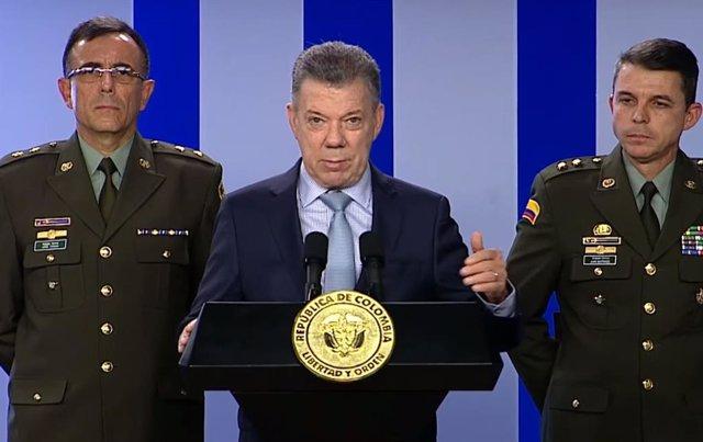 Archivo - El expresidente de Colombia Juan Manuel Santos