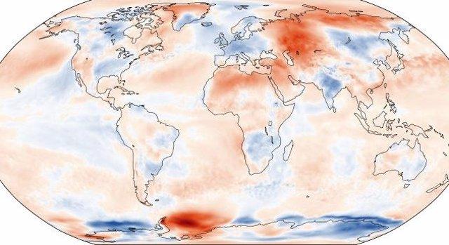 Anomalía de temperatura para mayo de 2021