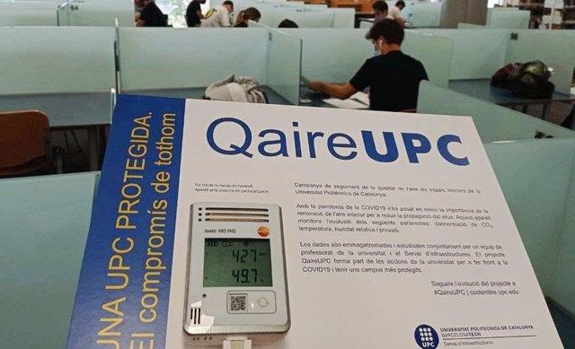 La Universitat Politècnica de Catalunya (UPC) instal·larà sondes permanents a 80 classes per monitoritzar la qualitat de l'aire.