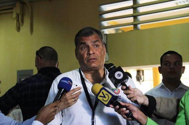 Archivo - El expresidente ecuatoriano Rafael Correa