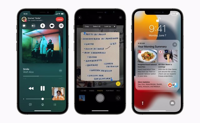 El sistema iOS 15 de Apple.