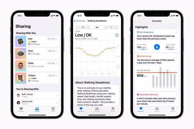 Nuevas funciones de la app Salud de Apple.
