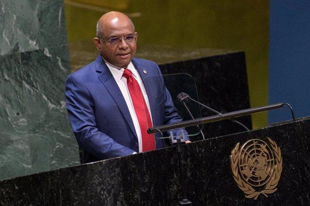 El presidente electo de la Asamblea General de la ONU, Abdulla Shahid, de Maldivas