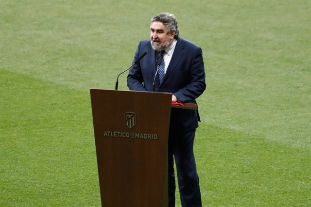 Jose Manuel Rodriguez Uribes, Minister of Culture and Sports, attends during the 2020/2021 spanish league, La Liga, Champions trophy award ceremony celebrated at Wanda Metropolitano stadium on May 22, 2021 in Madrid, Spain.