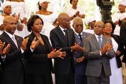 Archivo - El presidente, Jovenel Moise, en el acto en memoria de las víctimas del terremoto de 2010