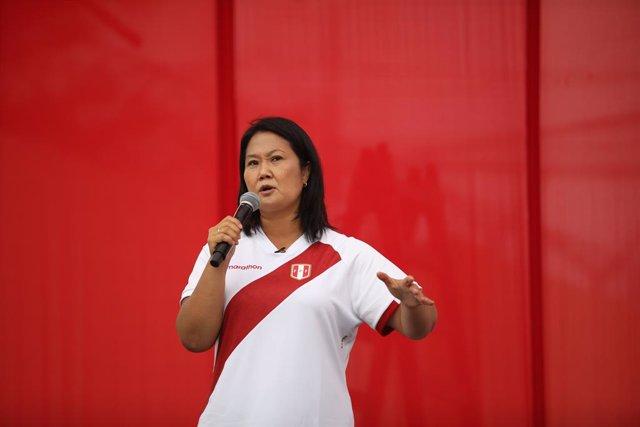 La candidata presidencial de Força Popular, Keiko Fujimori