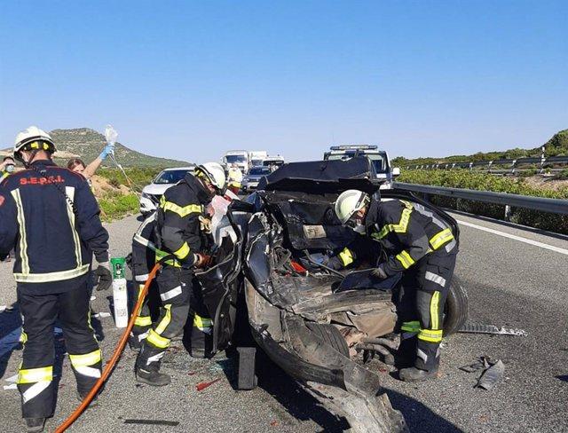Accidente en Chinchilla en la A-31